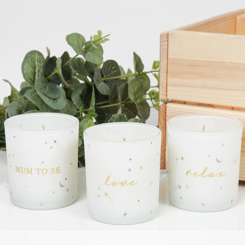 Mum to Be Gift Set of 3 Candles Gift Widdop