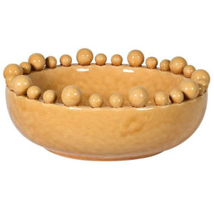 Mustard Bowl with Ball Decoration Homeware Coach House