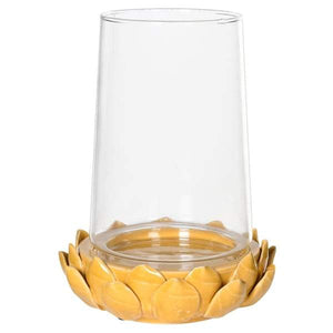 Mustard Leaf Candle Holder Homeware Coach House