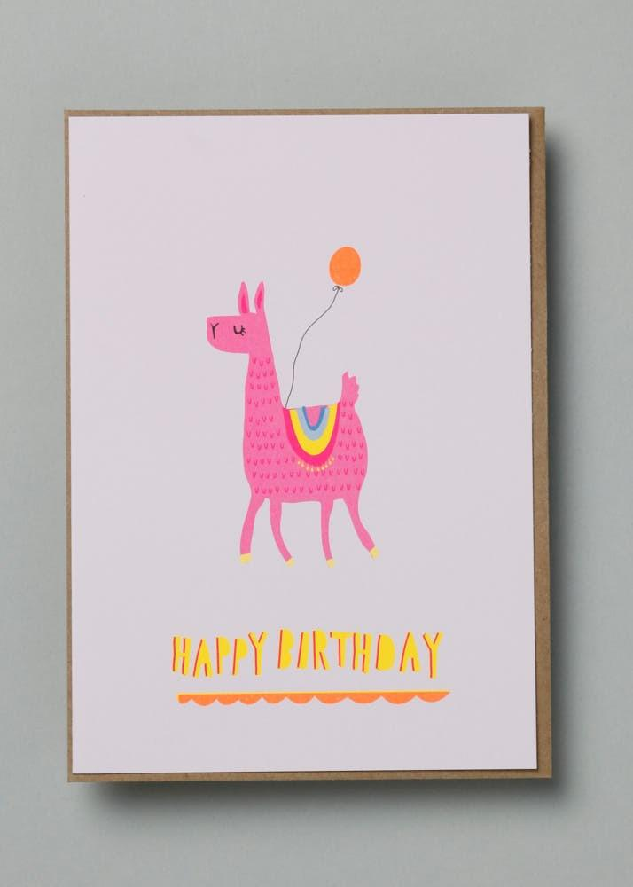 Neon Llama Birthday Card Stationery Earlybird