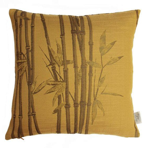 Ochre Bamboo Cushion Soft Furnishing Belfield
