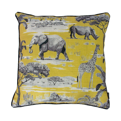Ochre Safari Cushion Soft Furnishing Riva Home