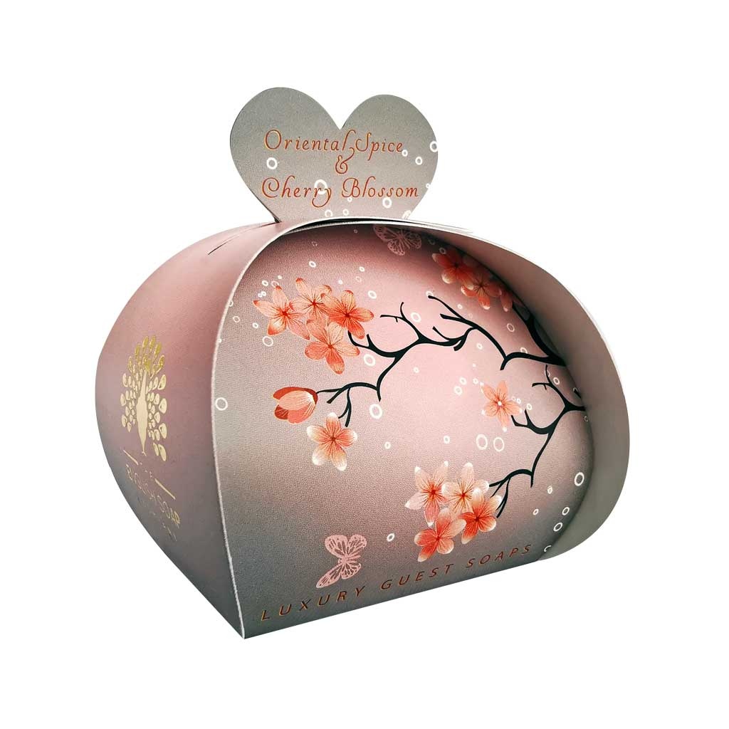 Oriental Spice and Cherry Blossom Guest Soap Beauty English Soap Company