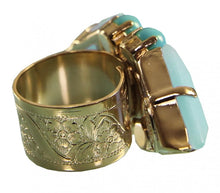 Load image into Gallery viewer, Pale Blue and Mint Adjustable Miami Ring Jewellery Philippe Ferrandis