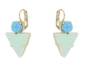 Pale Blue and Mint Miami Earrings Jewellery Philippe Ferrandis