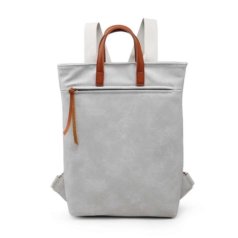 Pale Grey Canvas Style Rucksack Accessories House of Milan