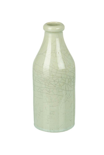 Pale Grey Crackle Bottle Vase Homeware Parlane