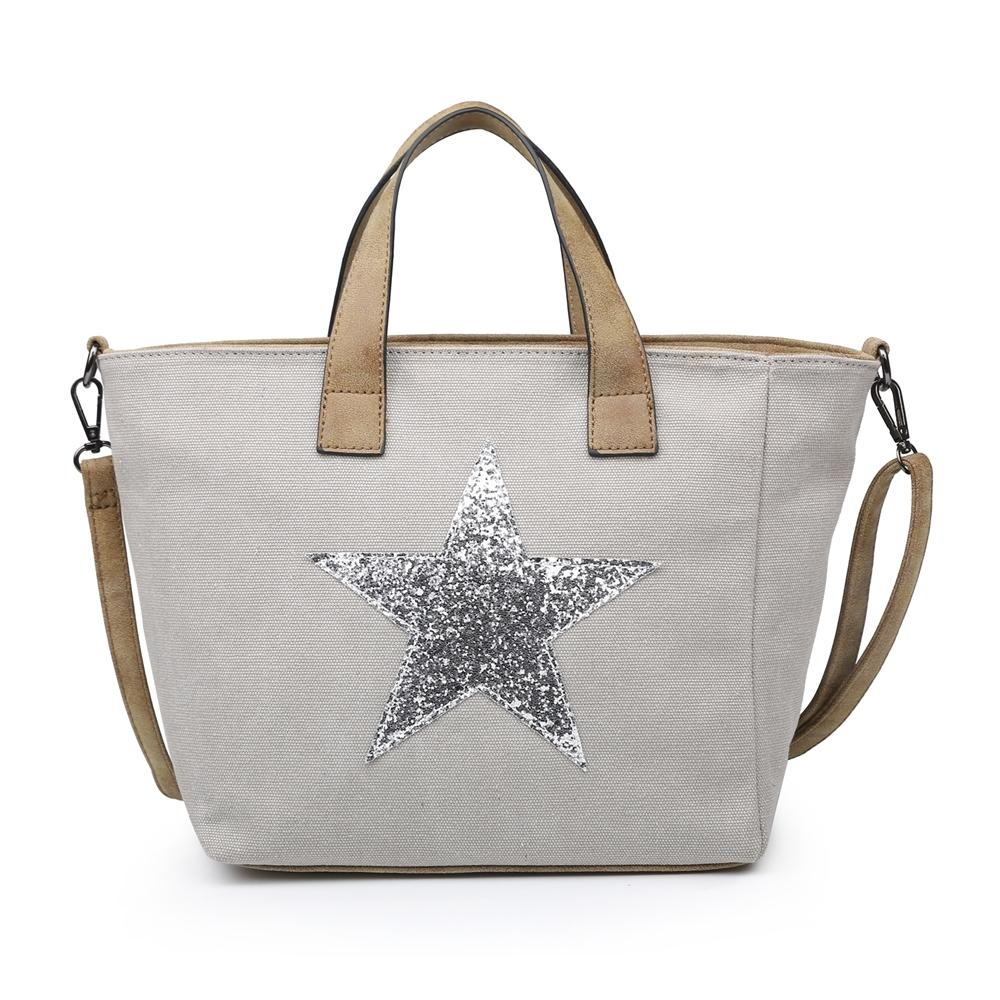 Pale Grey Star Handbag Accessories House of Milan