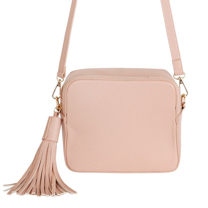Pale Pink Crossbody Box Bag Accessories Kris Ana