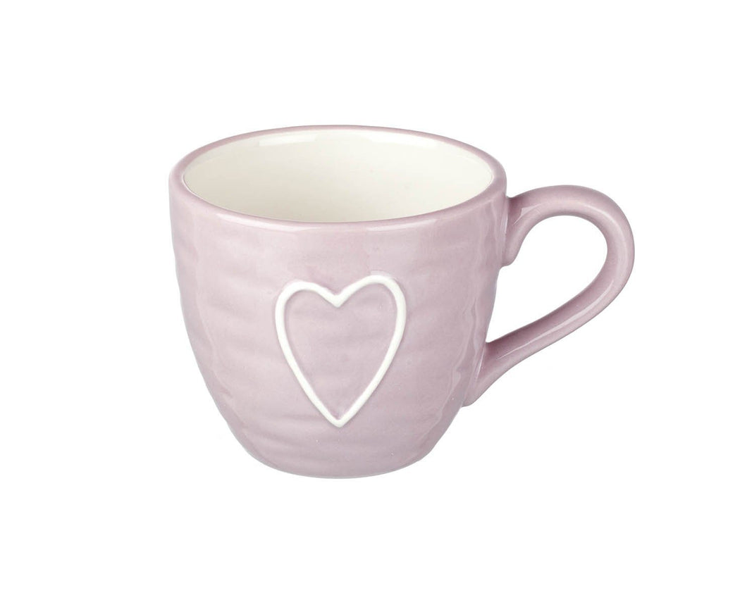 Pale Pink Heart Mug Homeware parlane