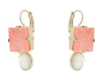 Pale Pink Maui Earrings Jewellery Philippe Ferrandis