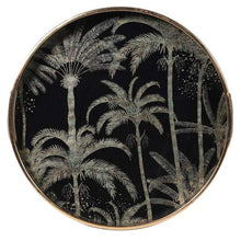 Load image into Gallery viewer, Palm Tree Pattern Gold Tray Homeware Coach House