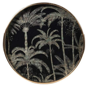 Palm Tree Pattern Gold Tray Homeware Coach House