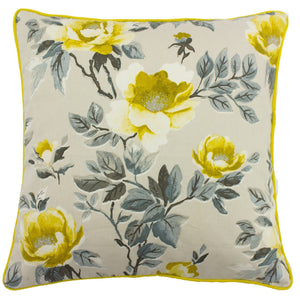 Peony Ochre Cushion Soft Furnishing Riva Home