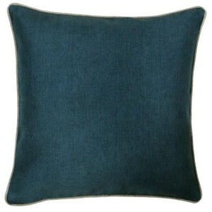 Petrol Cushion with Grey Edging Soft Furnishing Riva Home