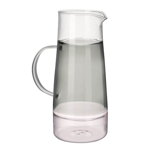 Pink and Grey Glass Jug Homeware Parlane