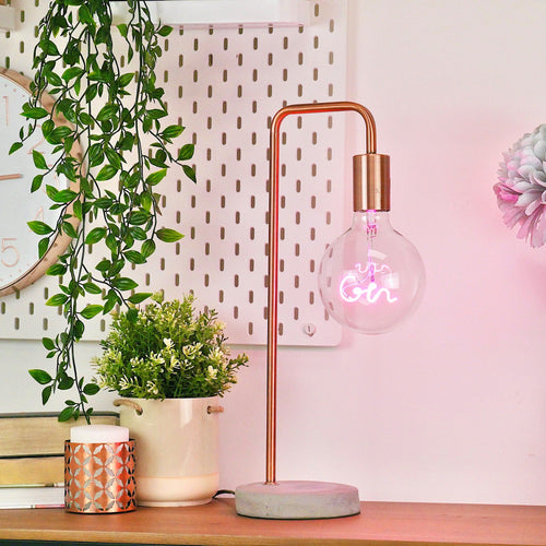 Pink Gin LED Bulb Lighting Steepletone