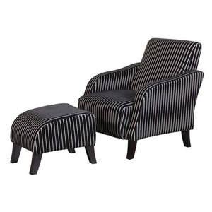 Pinstripe Chair with Footstool Furniture Coach House