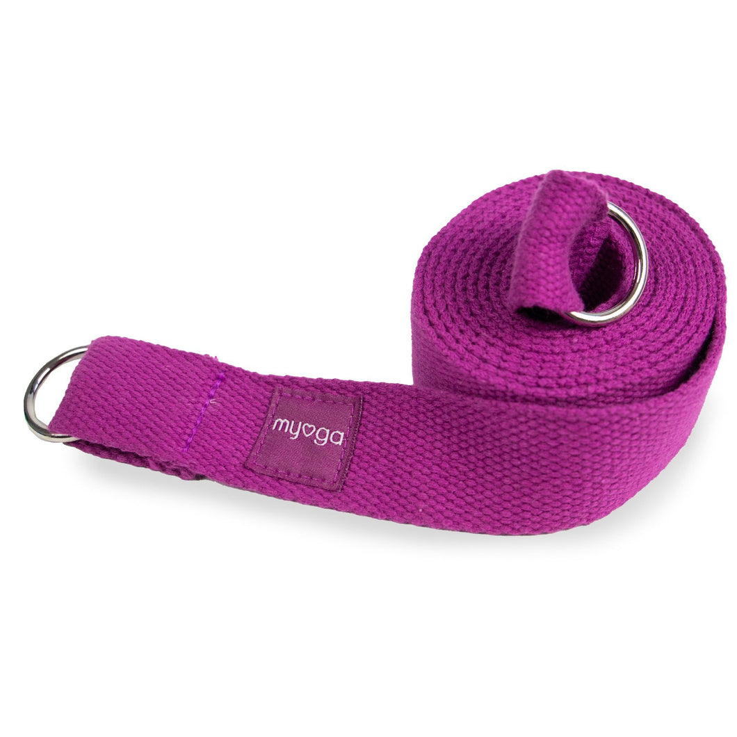 Plum Yoga Stretch Belt & Mat Carry Gift Ryder