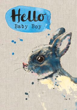 Rabbit Baby Boy Card Stationery Sarah Kelleher