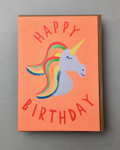 Rainbow Mane Unicorn Birthday Card Stationery Earlybird
