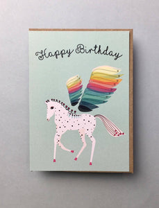 Rainbow Pegasus Birthday Card Stationery Earlybird