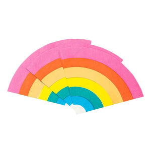 Rainbow Shaped Paper Napkins Party Talking Tables