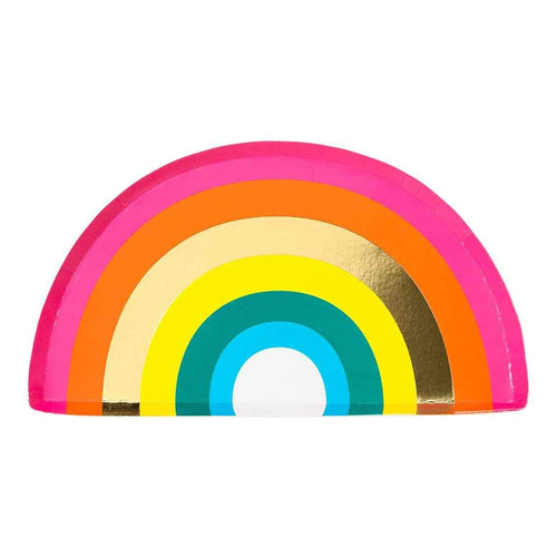 Rainbow Shaped Paper Plates Party Talking Tables