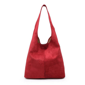 Raspberry Snake Effect Slouch Handbag Accessories House of Milan