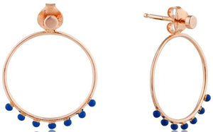 Rose Gold Dotted Front Hoop Earrings Jewellery Ania Haie
