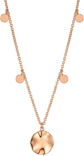 Rose Gold Ripple Drop Necklace Jewellery Ania Haie