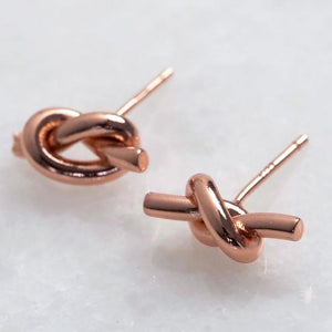 Rose Gold 'Tying the Knot' Earrings Jewellery Lisa Angel