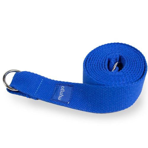 Royal Blue Yoga Stretch Belt & Mat Carry Gift Ryder