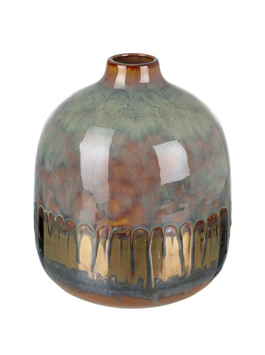 Sage and Bronze Small Ceramic Vase Homeware Parlane