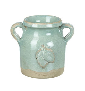 Sage Double Handle Ceramic Vase Homeware Parlane