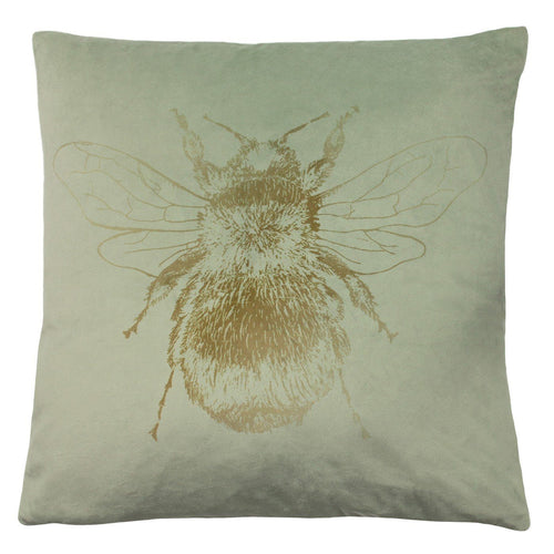 Sage Green Bee Cushion Soft Furnishing Riva Home