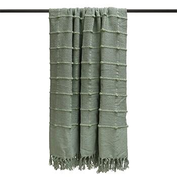 Seafoam Textured Throw Soft Furnishing Riva Home