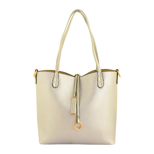 Silver and Gold 2 in 1 Handbag Accessories Kris Ana