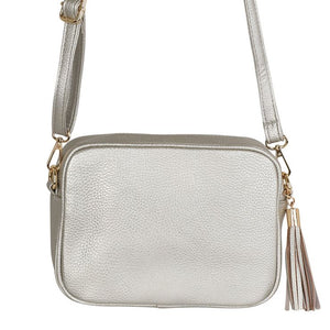 Silver Crossbody Bag Accessories Kris Ana