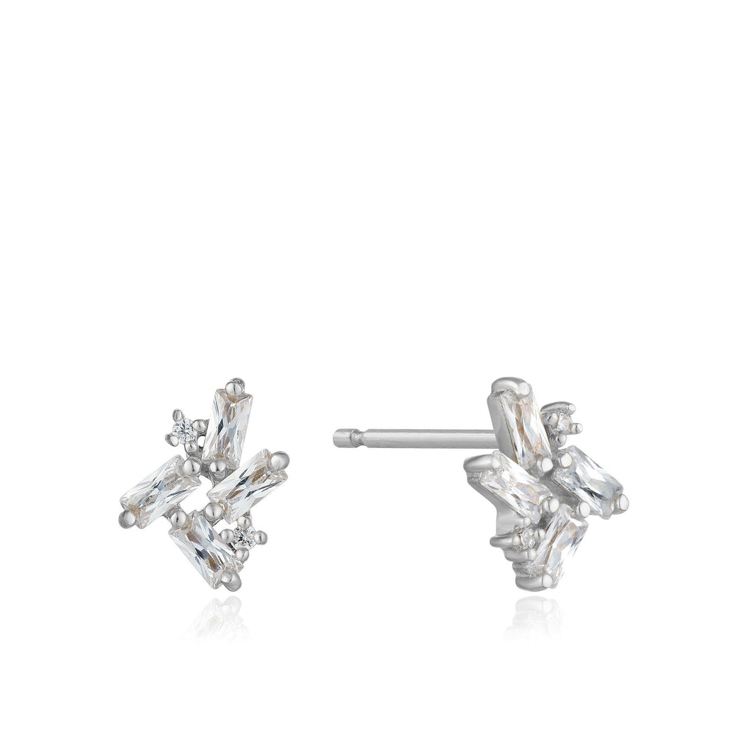 Silver Glow Getter Stud Earrings Jewellery Ania Haie