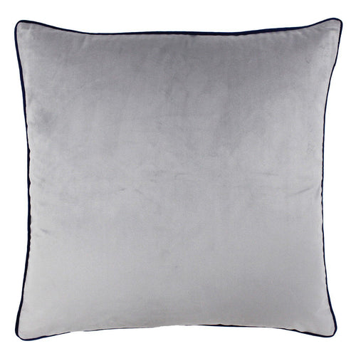 Silver Grey and Navy Velvet Cushion Soft Furnishing Riva Home