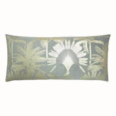 Silver Grey Tropical Palm Cushion Soft Furnishing Riva Home