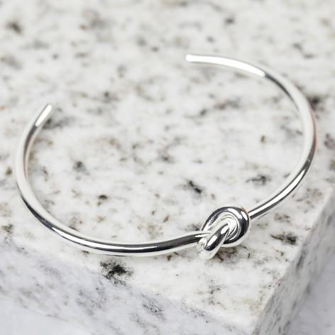 Silver Knot Bangle Jewellery Lisa Angel