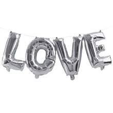 Load image into Gallery viewer, Silver Love Balloon Bunting Party Ginger Ray