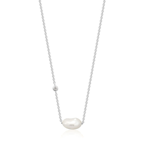 Silver Pearl Necklace Jewellery Ania Haie