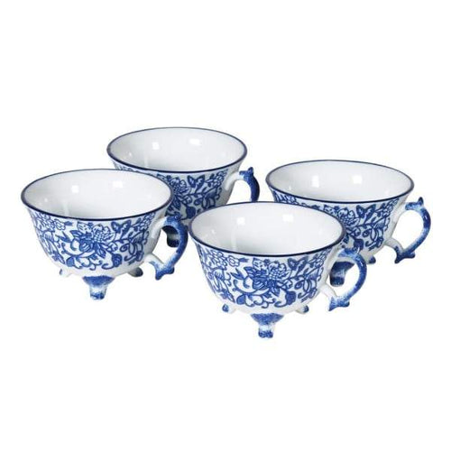 Single Blue Pattern Tea Cup Homeware Coach House