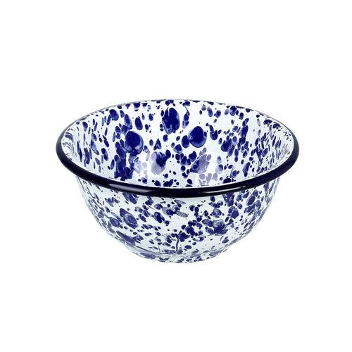 Small Blue Splash Enamel Bowl Homeware Parlane