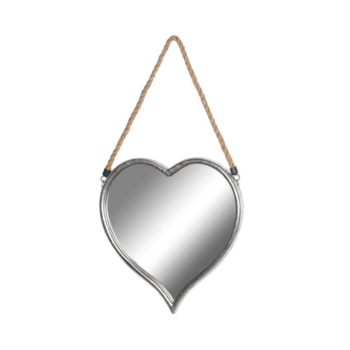 Small Heart Mirror With Rope Detail Homeware Hill Interiors