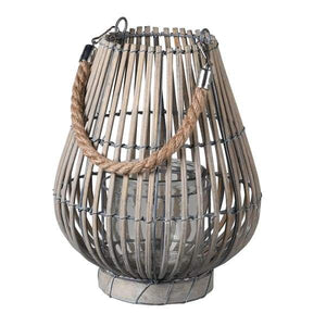 Small Natural Willow Lantern Homeware Coach House
