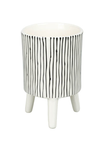 Small Striped Ceramic Planter Homeware Parlane